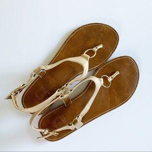 New Directions Metallic Gold Sandals